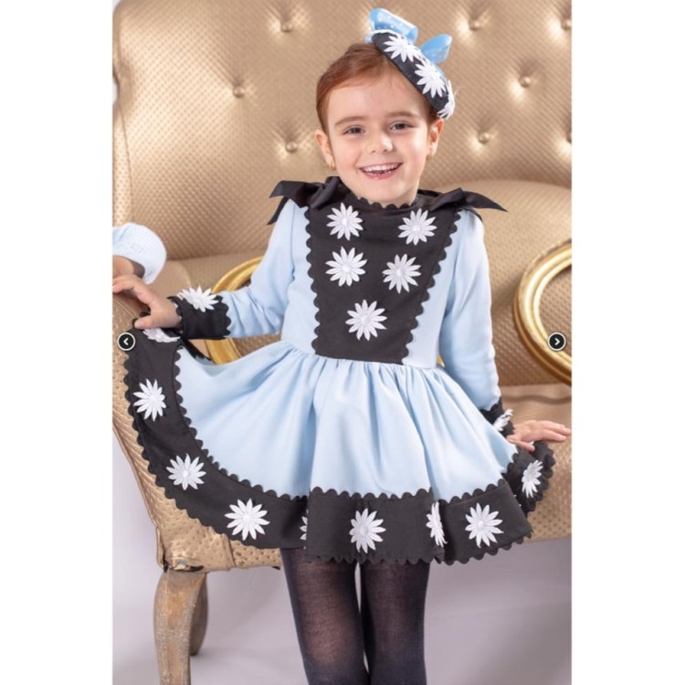 AW19 Nini Daisy Collection Puffball Dress Blue and Black