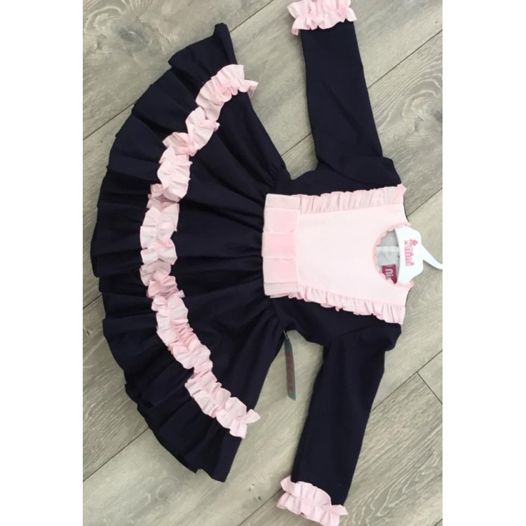 AW19 Nini Navy and Pink Puffball Dress