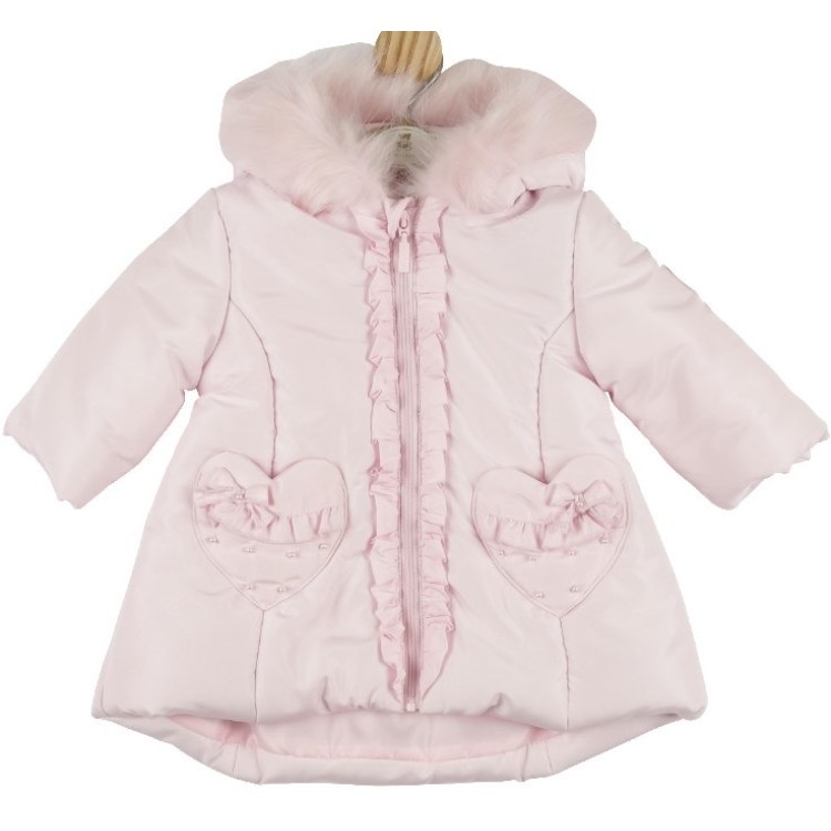 AW20 Mintini Pink Coat,Heart shape Detail Pocket MB4442