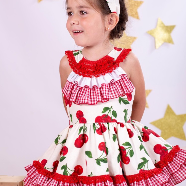 Nini SS20 Cherry Puffball Dress