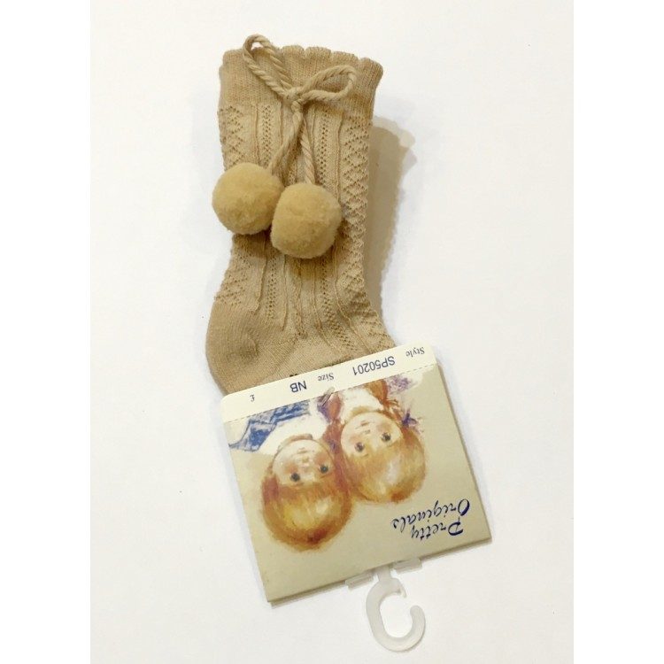 Pretty Originals Pom Pom Camel Sock