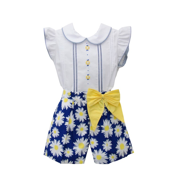 SS20 Navy and Yellow  short suit.