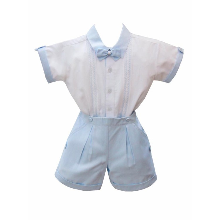 SS20 pretty Originals Blue short suit with bow tie.