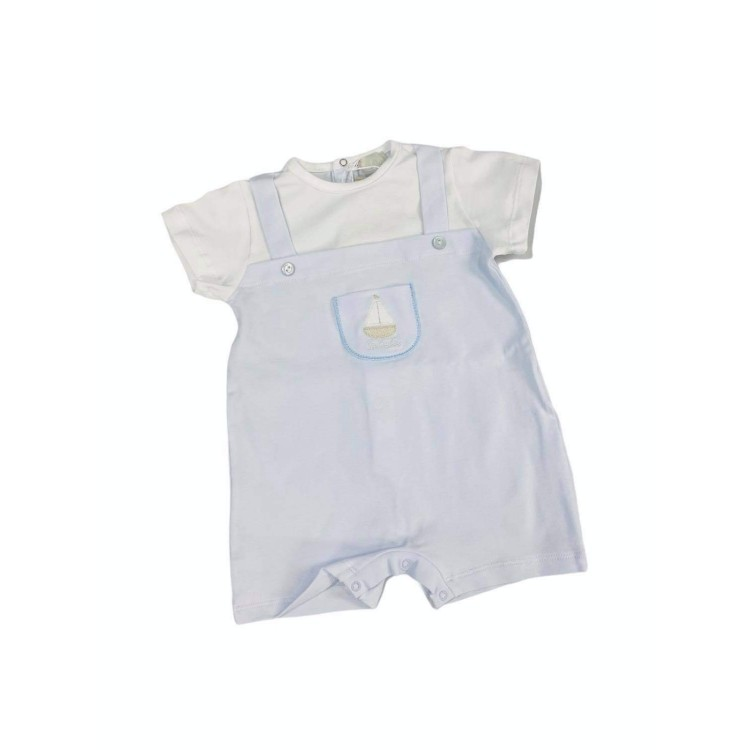 SS21 Lalalù pale Blue and white romper.